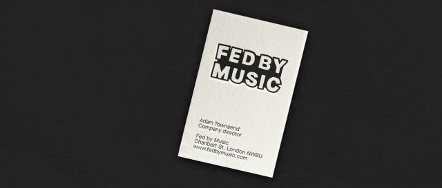 Fed by Music - Visual identity, Logo, Business card
