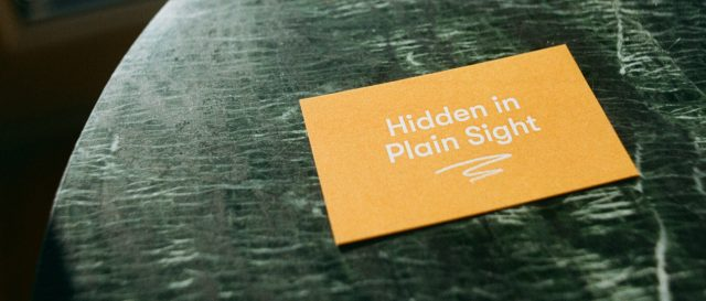 Hidden in Plain Sight - Visual identity, Website, Leaflet, Poster