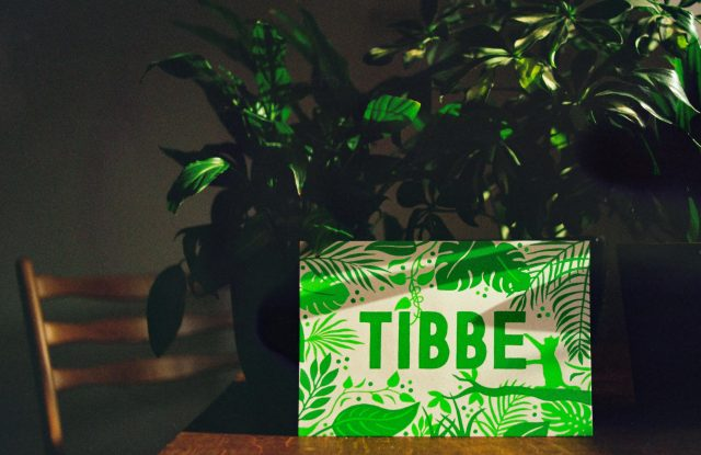 Tibbe - Birth announcement card, Screenprint